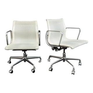 Eames Aluminum Group Management Arm Chairs - A Pair