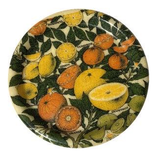 Mid-Century Modern Fiberglass Citrus Serving Plate For Sale