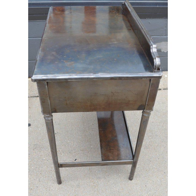 Mid-Century Simmons Steel Desk with Steel Chair Labelled Physicians' Nurses' For Sale - Image 10 of 10