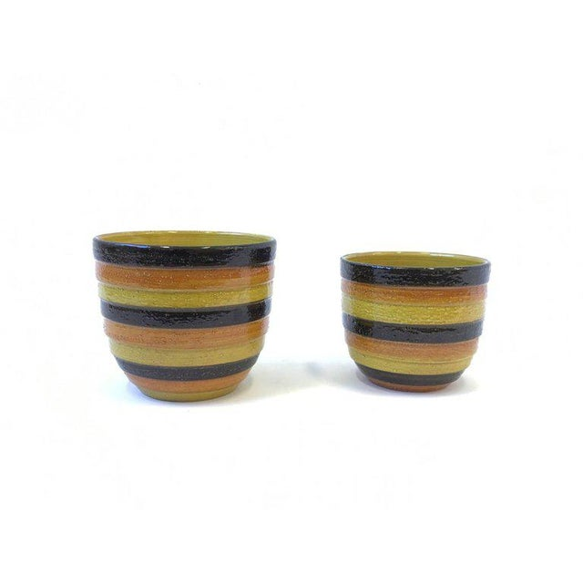 Ceramic Pair of Italian Ceramic Planters by Bitossi for Rosenthal For Sale - Image 7 of 7