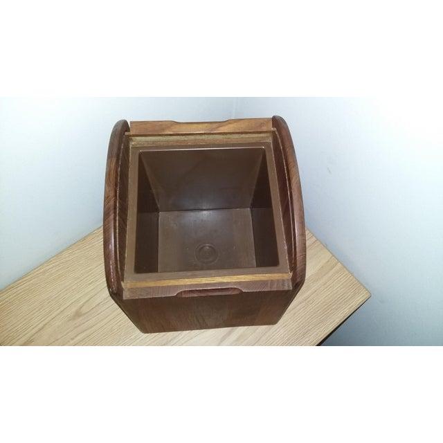 1980s Vintage Kalmar Designs Teak Ice Bucket. For Sale - Image 5 of 9