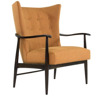 Hans Wegner Fritz Hansen Scandinavian Modern Wingback Lounge Chair For Sale