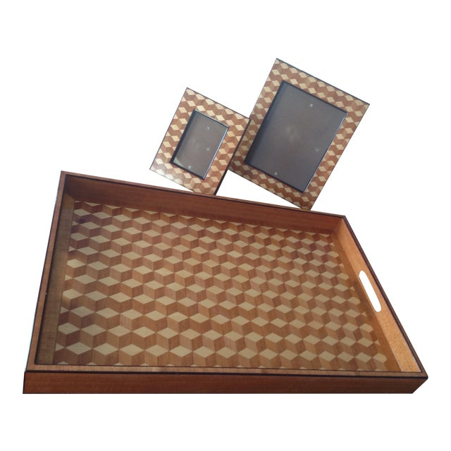 Williams Sonoma Home, Tray & Photo Frames - 3 - Image 1 of 10