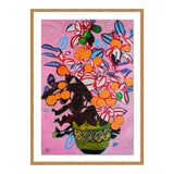 Image of Orange Tree by Jelly Chen in Gold Framed Paper, Medium Art Print For Sale