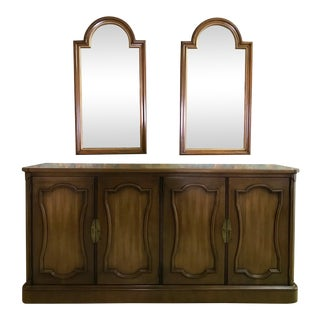 Henredon Buffet & Mirrors - Set of 3