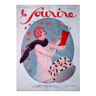 "G. Leonnec 1928 ""Le Chapeau Feuille Morte..."" Le Sourire Cover Print For Sale"