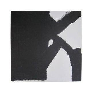 Abstract Black and White Painting For Sale
