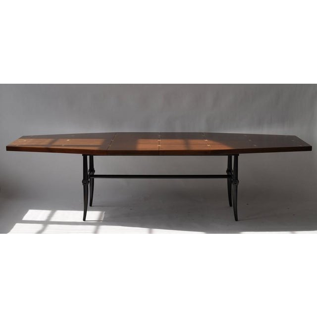 Mid-Century Modern Rare Dining Table by Tommi Parzinger For Sale - Image 3 of 9