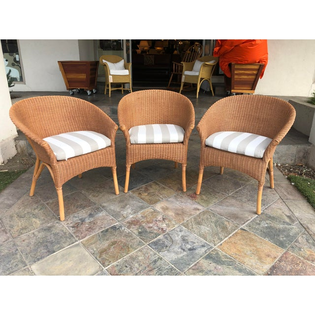Palecek Rattan Bistro Chairs - Set of 3 For Sale - Image 9 of 9
