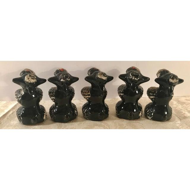 Ceramic Black Poodle Shakers - Set of 5 For Sale - Image 7 of 10