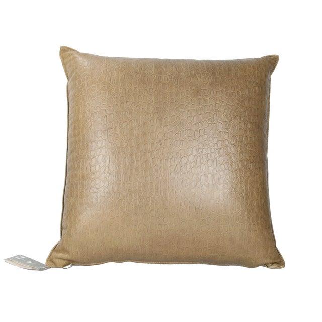 Original Armani Casa Leather Pillow For Sale In Miami - Image 6 of 8
