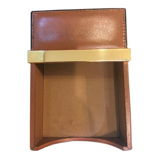 Vintage 1970s Mark Cross Leather Notepad Holder For Sale
