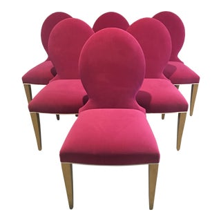 Modern Taylor Burke Crypton Dining Chairs - Set of 6 For Sale