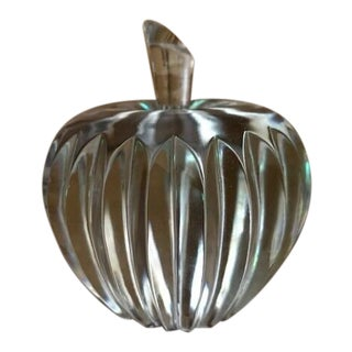 Waterford Crystal Signed Apple Paperweight For Sale