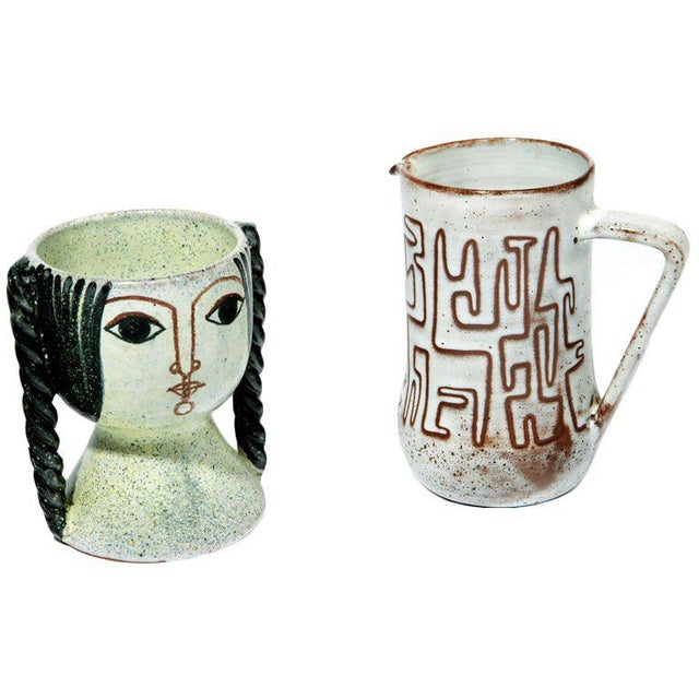 Modern Ceramics by Miguel Durán-Loriga and Jean Rivier For Sale - Image 3 of 3