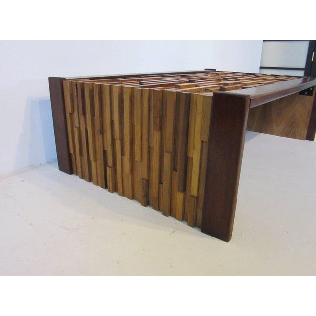 Contemporary Percival Lafer Brazilian Rosewood Folding Coffee Table For Sale - Image 3 of 7