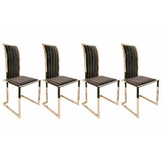A Set of 4 20th Century Brass Side Chairs, Ca. 1970's Preview