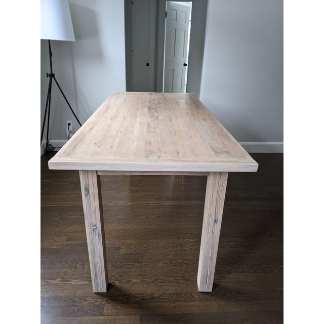 2010s European Style Modern Farmhouse Reclaimed Wood Dining Table or XL Desk For Sale - Image 5 of 12