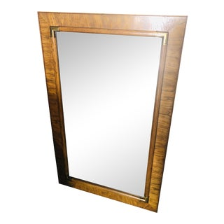 """Vintage Drexel Heritage """"Accolade"""" Faux Bamboo Mirror For Sale"""