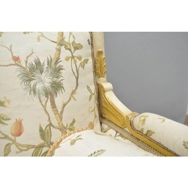 Fabric Early 20th Century Vintage French Empire Style Settee For Sale - Image 7 of 11