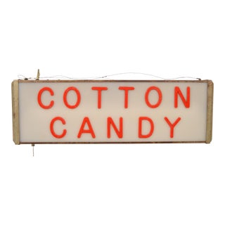 Vintage Lighted Cotton Candy Sign For Sale