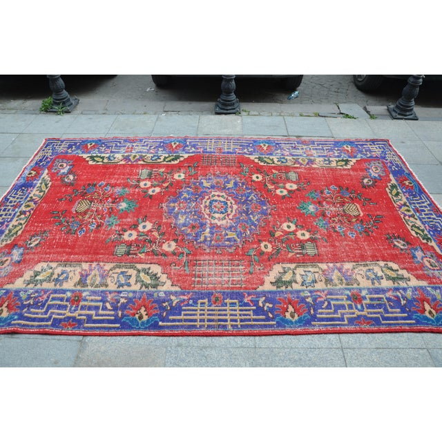 Turkish Oushak Floor Rug - 6′2″ × 9′11″ - Image 4 of 6