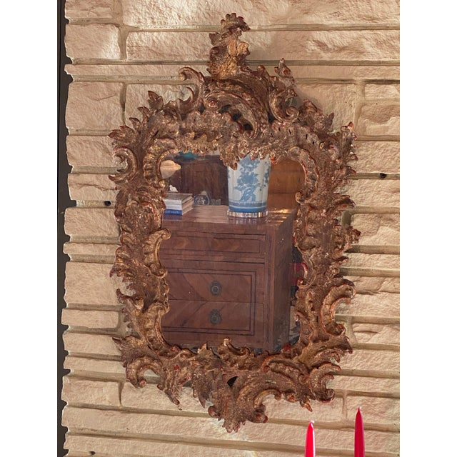 Antique Gessoed Mirror For Sale - Image 4 of 5