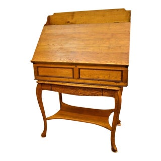 Rare Antique Chestnut Drafting Table Lift Top Desk