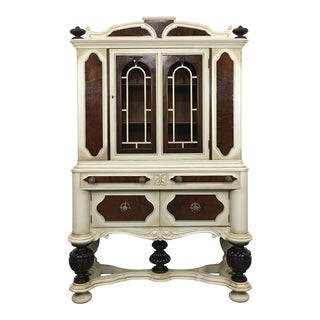 1910 Antique Jacobean China Cabinet For Sale