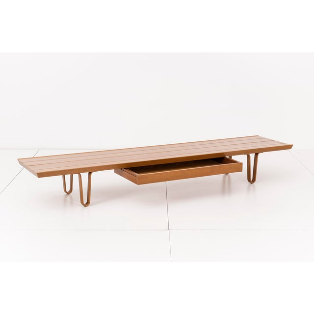 "Dunbar Furniture Edward Wormley ""Long John Bench"" For Sale - Image 4 of 8"