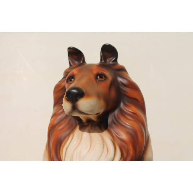 Americana Mid-Century Glazed Ceramic Dog Sculpture For Sale - Image 3 of 12