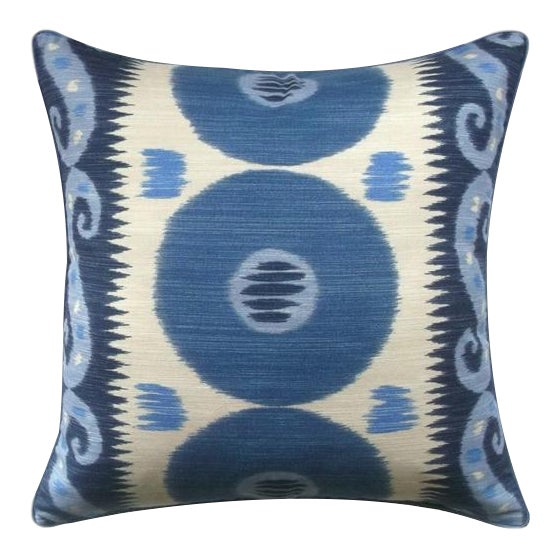 Asian Lee Jofa Emir Ikat Down Feather Accent Pillow For Sale - Image 3 of 5