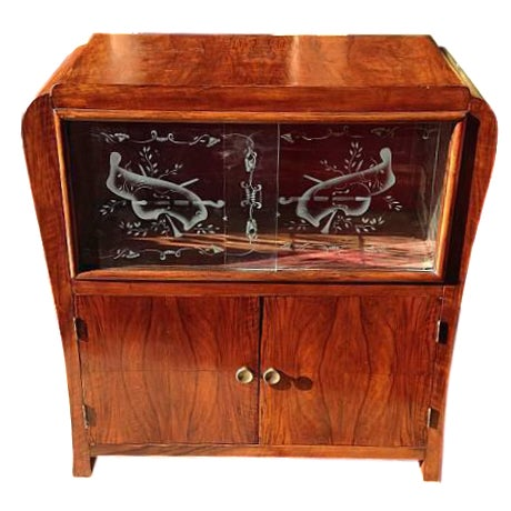 Antique Wood Music Case - Image 1 of 3