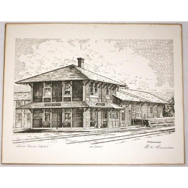 Santa Paula Depot by Timothy A. Gaussiran Here's a vintage limited edition print by Ventura artist Tim Gaussiran. It...