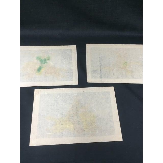 Antique Korean Silk Paintings - Set of 3 - Image 7 of 7