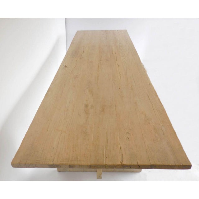 Long Elm Dining Table For Sale - Image 4 of 7