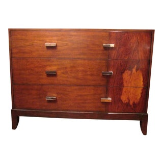 Traditional Theodore Alexander Walnut Chest of Drawers For Sale