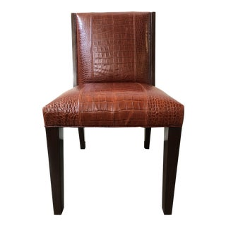 Ralph Lauren Home Modern Metropolis Leather Side Chair For Sale