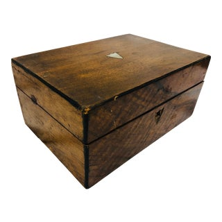 Antique Wooden Desk Caddy Box For Sale
