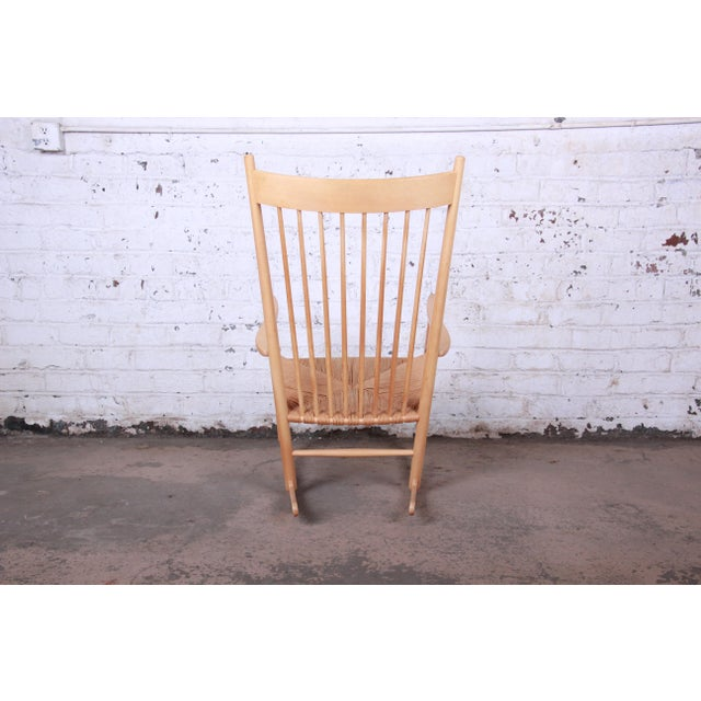 Hans J. Wegner J16 Danish Rocking Chair For Sale In South Bend - Image 6 of 8
