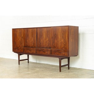 Exceptional Mid Century Danish Modern Rosewood Tall Sideboard Credenza Preview