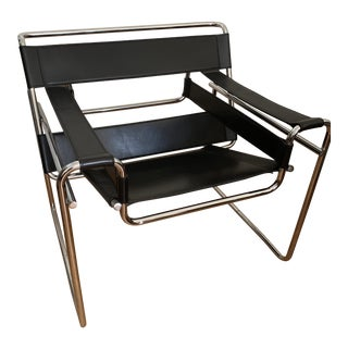 Modern Corbusier Black Chair For Sale
