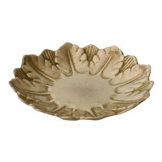 Mid-Century Brass Wreath Dish For Sale