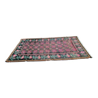 Vintage Erzurum Kilim / Tapestry From Turkey - 5′2″ × 9′6″ For Sale