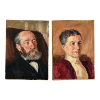 John Winthrop Andrews , American (1879-1964) Pair Portraits For Sale