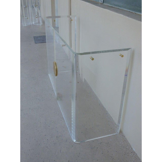 Mid-Century Modern 1970's Vintage Lucite Console Table For Sale - Image 3 of 7
