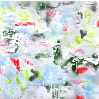 ''Spring Vacation'' Contemporary Abstract Mixed-Media Painting by Amber Goldhammer For Sale