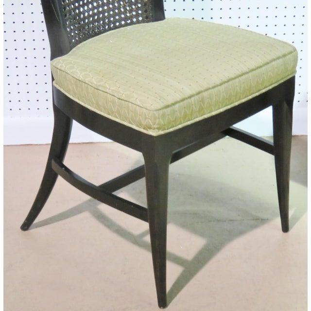 6 Harvey Probber Ebonized Caned Back Dining Chairs - Image 3 of 6