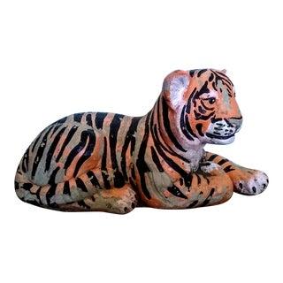 1940's Concrete Tiger Cub Statue For Sale
