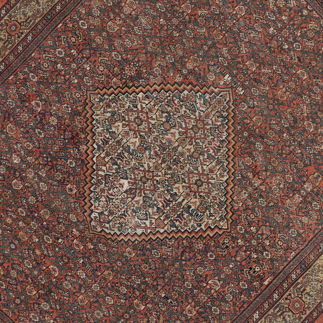 "Antique Persian Mahal Rug - 8'6"" X 10' For Sale - Image 4 of 5"